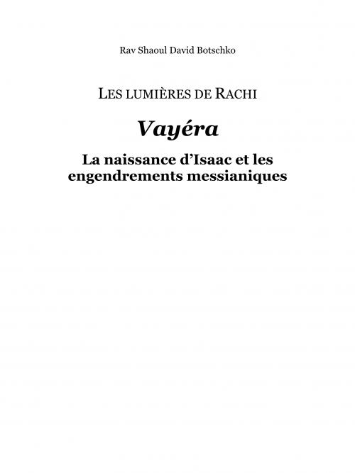 Couverture du livre Les Lumières de Rachi - Vayéra