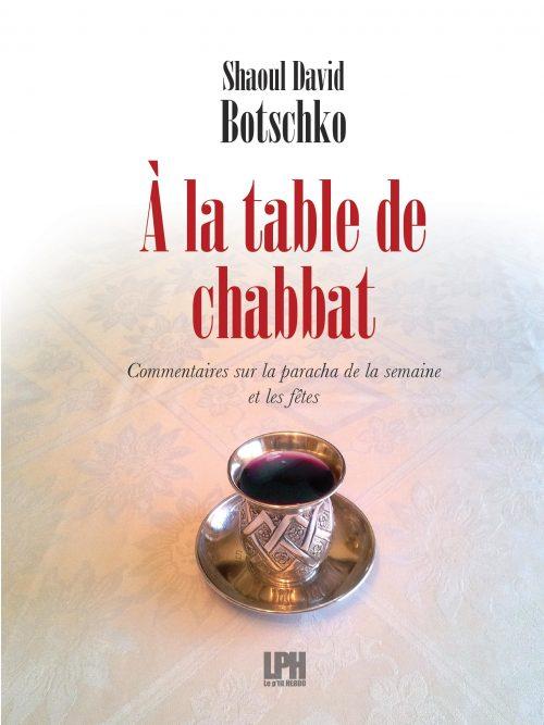 Couverture du livre A la table de Chabat